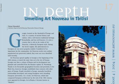"""2004 – Unveiling Art Nouveau in Tbilisi. Magazine """"Coup de Fouet"""""""