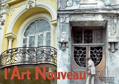 2009 – Pradel M. Pas de quartiers pour l'Art Nouveau. Magazine LATITUDES. France